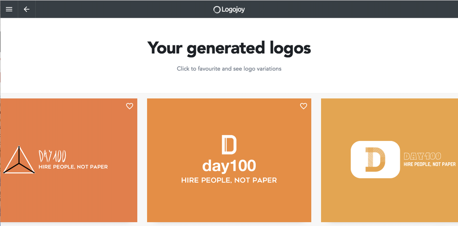 logojoy logo maker options