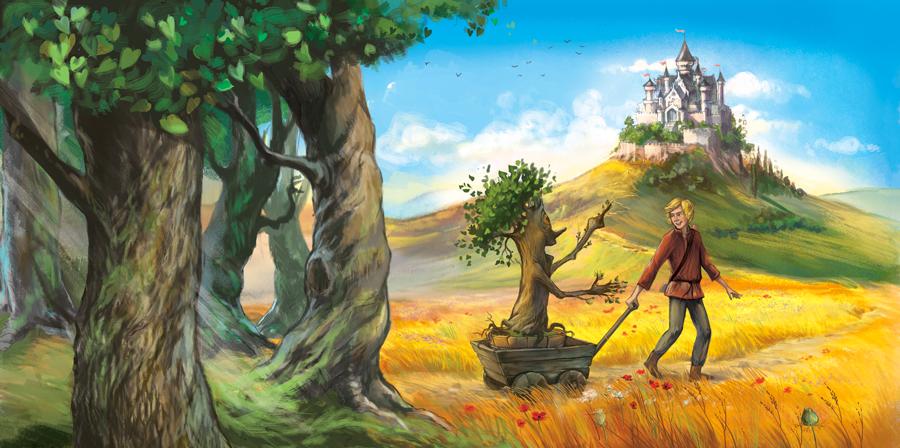 Fairy tale illustration by Marrieta