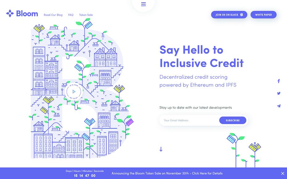 Bloom website screenshot