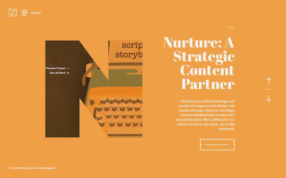 Nurture Digital website screenshot