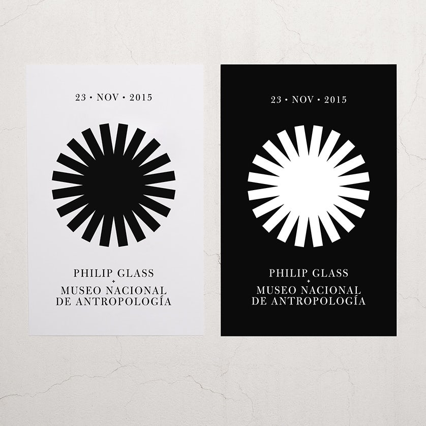 Philip glass concert logo