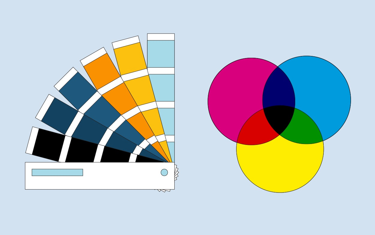 Pantone colors vs. CMYK printing
