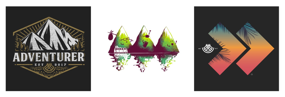 Mountain t shirt designs