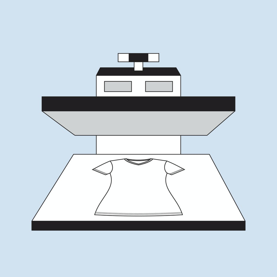 How to design a t-shirt: illustration of vinyl graphics printing