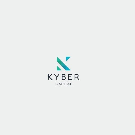"Logo with minimal geometric letter ""K"""