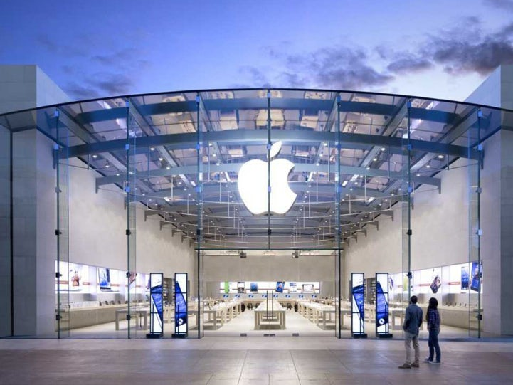 An Apple store