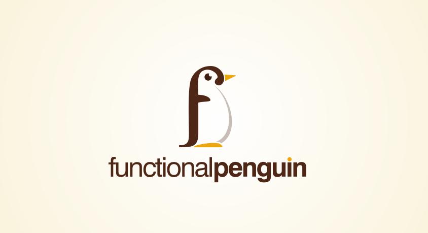 Winning logo design entry for Functional Penguin