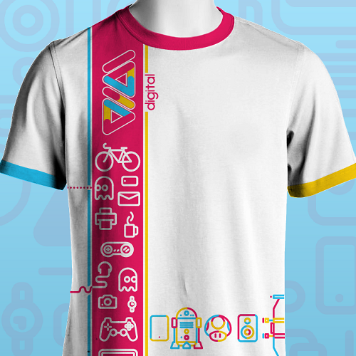 Colorful t shirt design