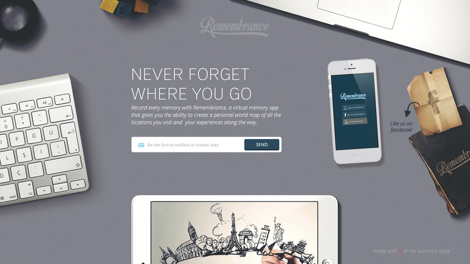 Winning landing page design from 99designs creator smashingbug