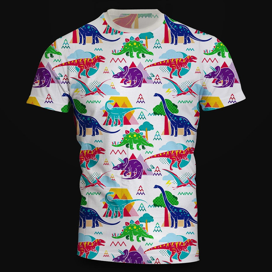 Colorful dinosaurs t shirt design