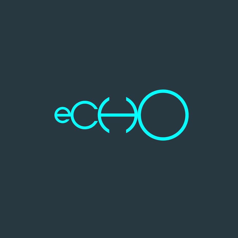 Logo with echo effect