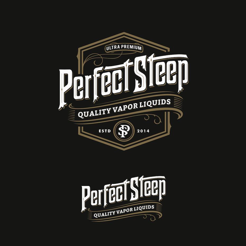 Perfect Steep eJuice logo design