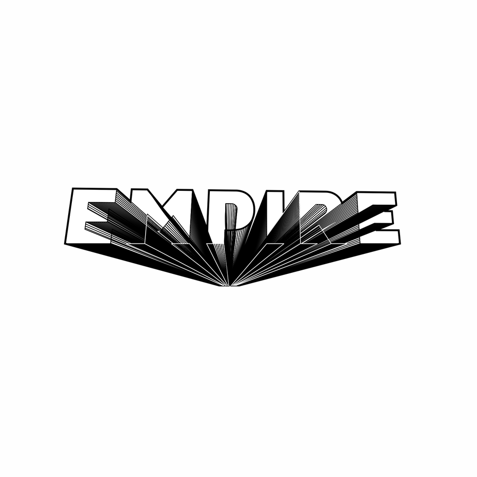 Logotype with experimental 3D technique
