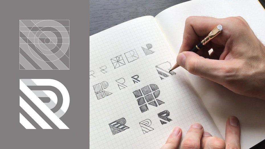 Branding ideas being written in a notebook