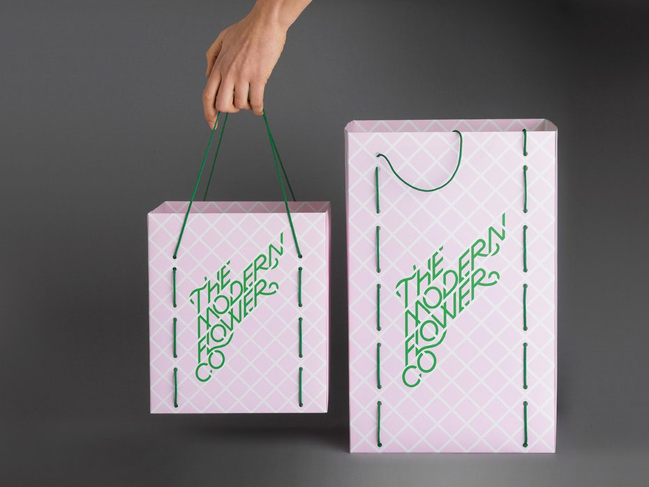 Logo with trellis as grid