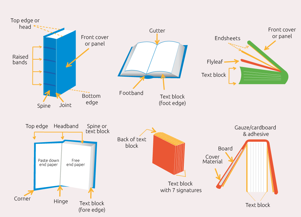 parts of a book diagram