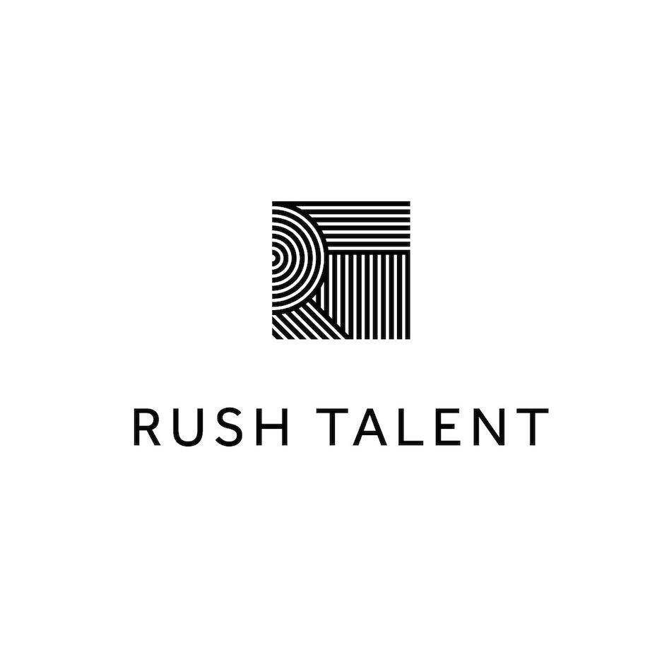 Logo with geometric pattern