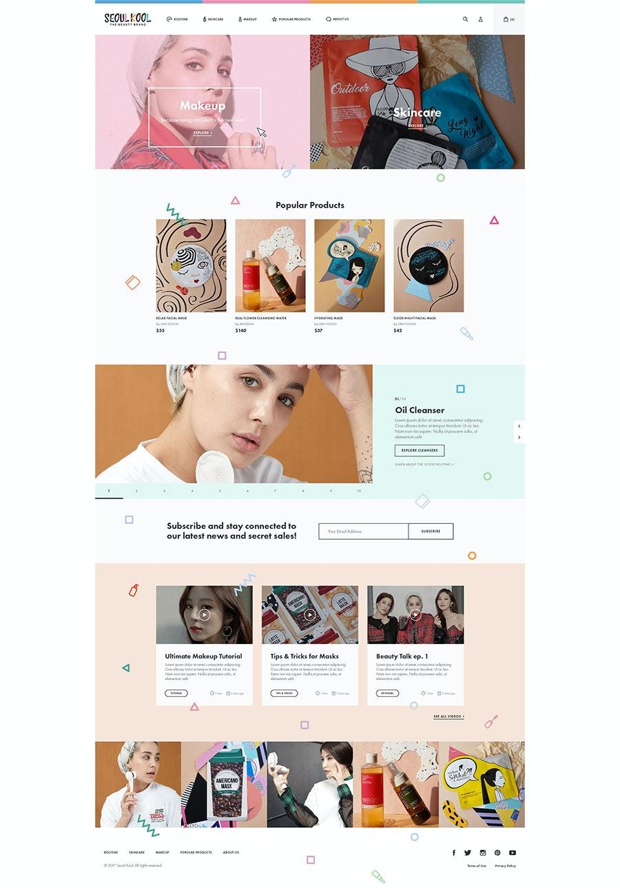 geometric website design