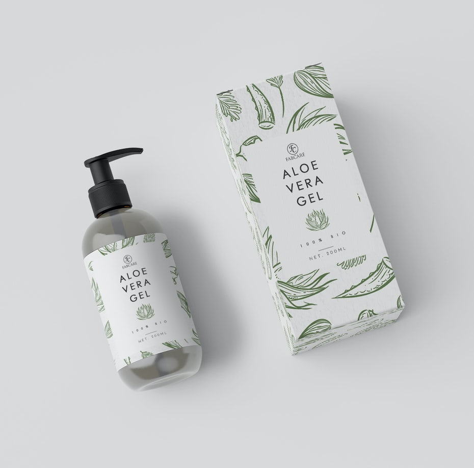 Aloe vera gel packaging