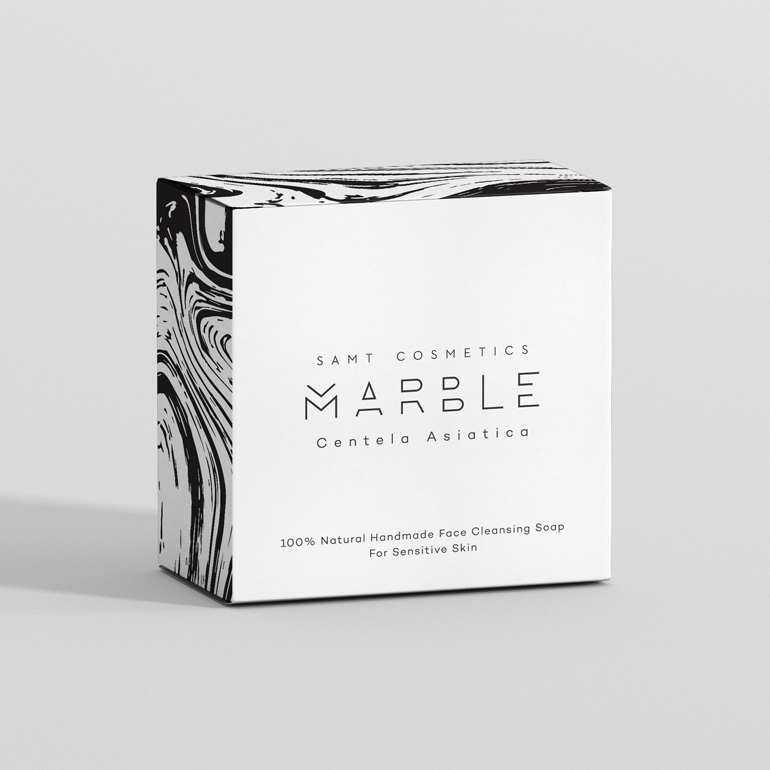 marble cosmetic label