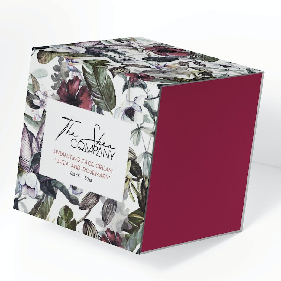 Floral cosmetic label