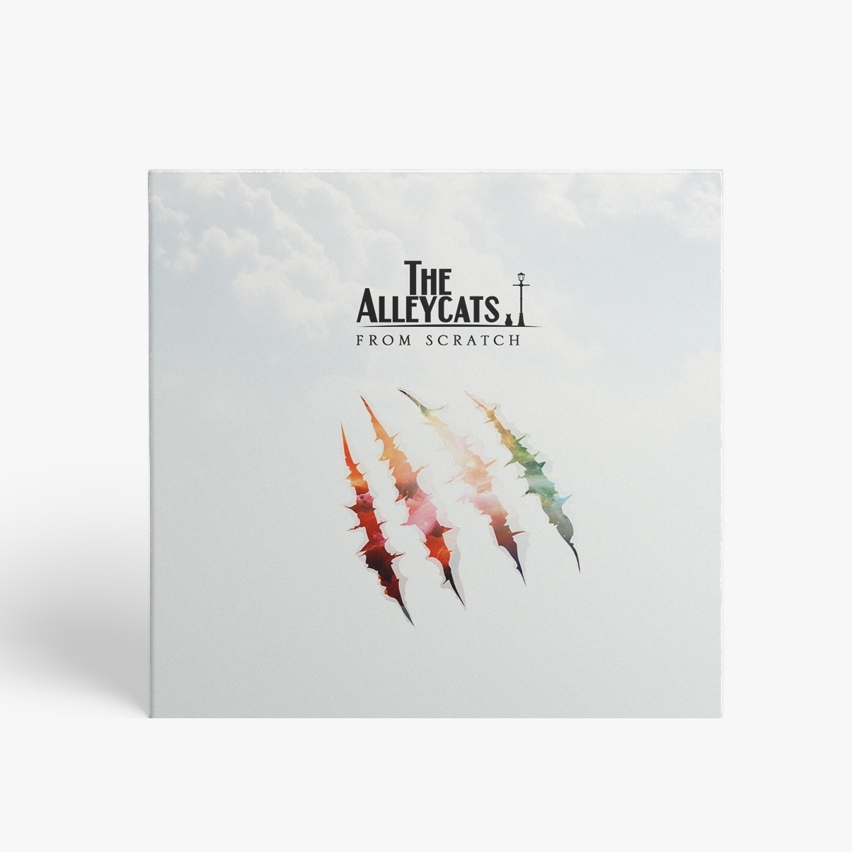 Minimalist album cover for The Alleycats