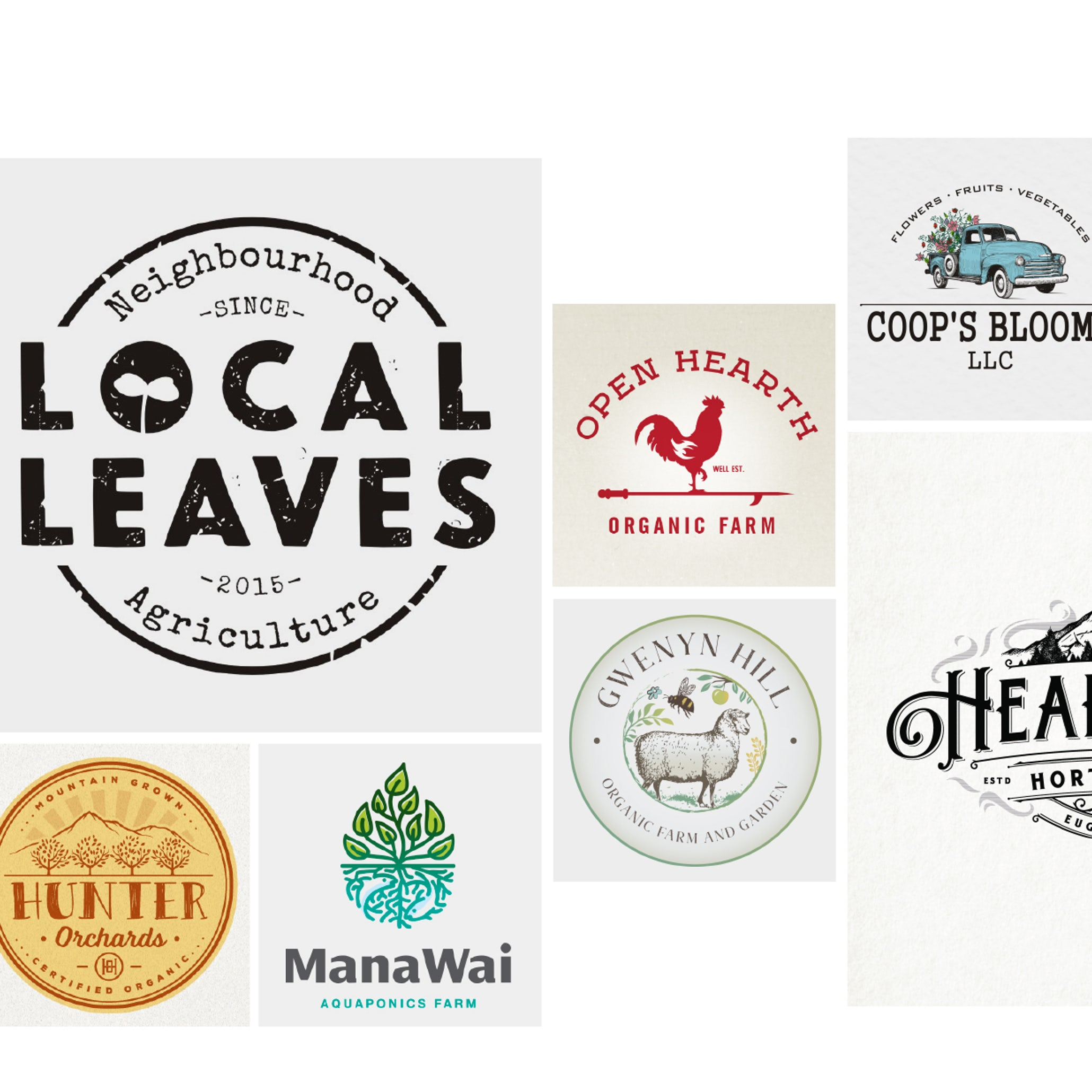 32 farm logos we really dig - 99designs