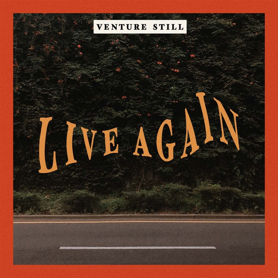 Album cover design for Live Again