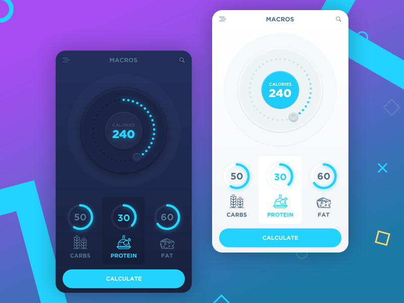 A mobile nutrition app design