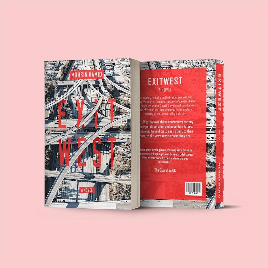 """Exit West: A Novel"" redesigned"