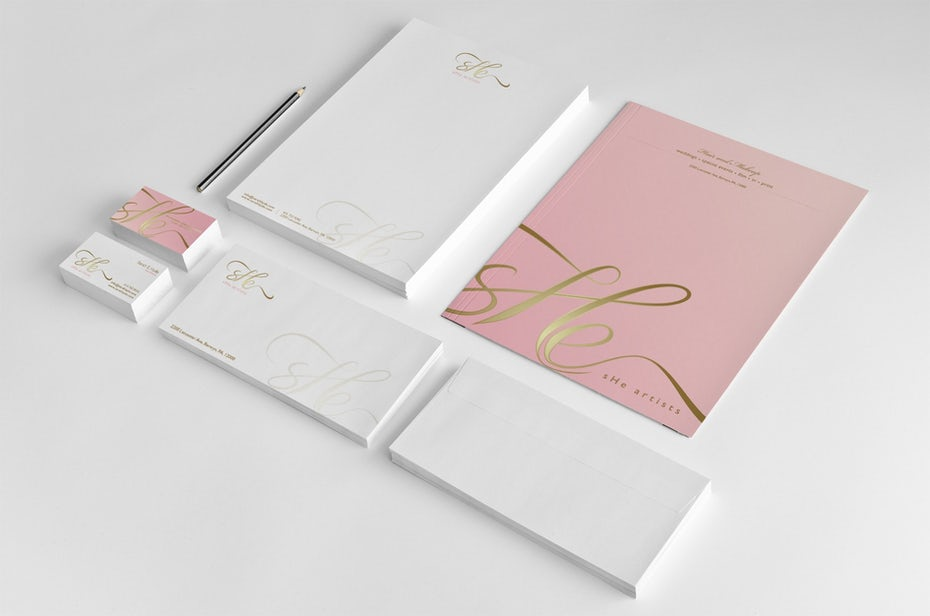 Pink stationary