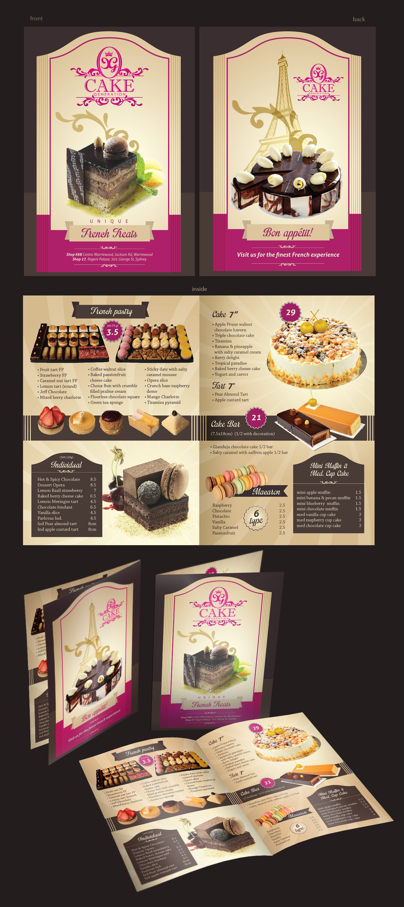 Flyer for bakery