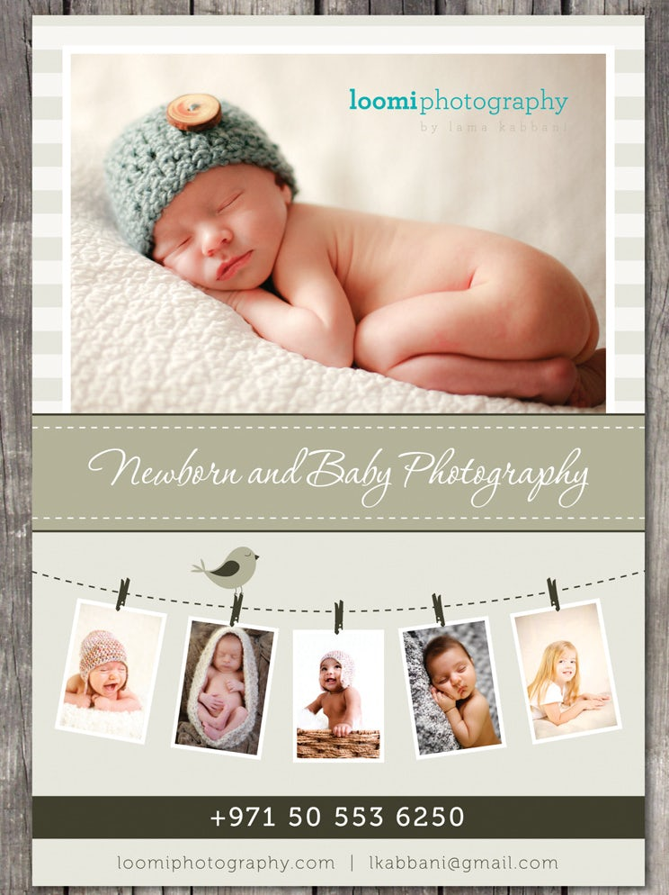 Flyer for a baby photographer