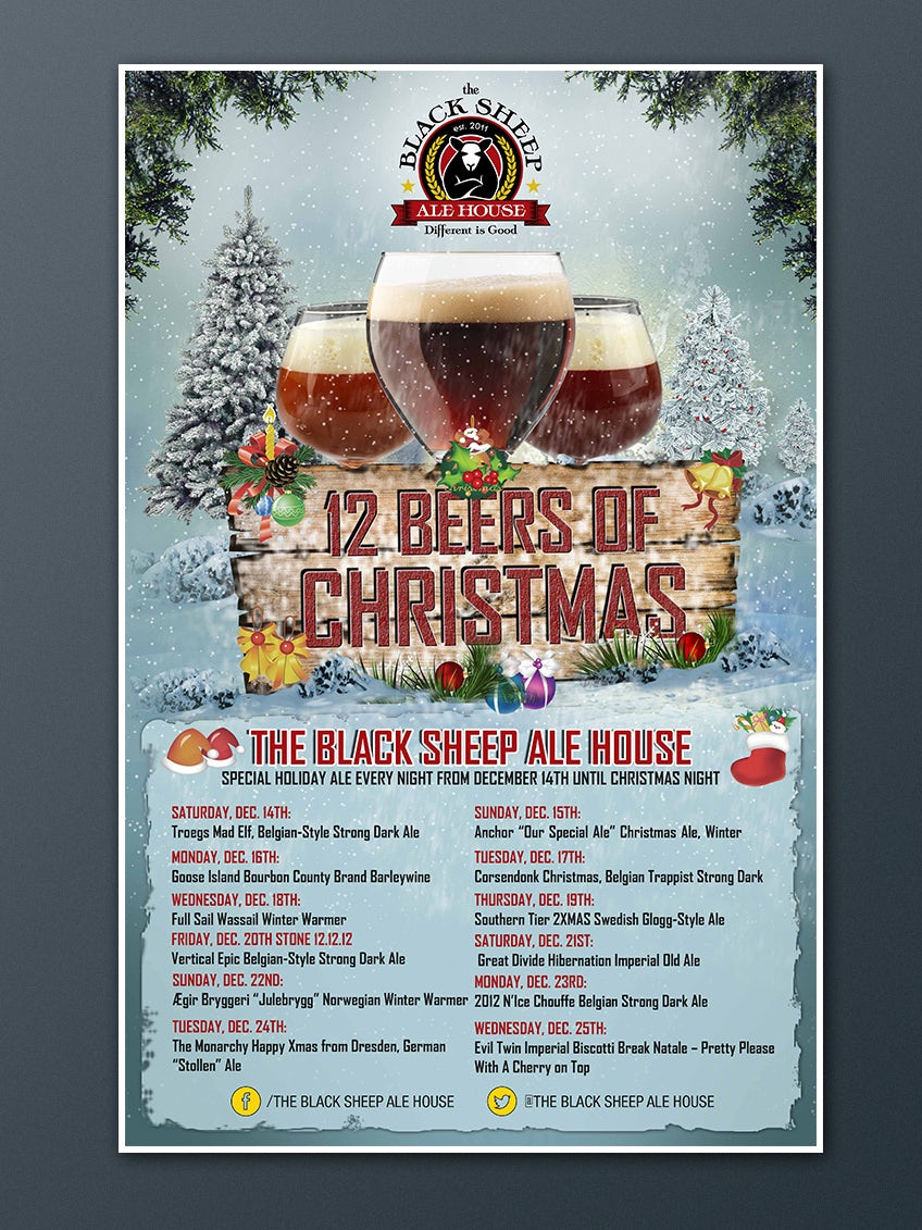 12 beers of Christmas flyer