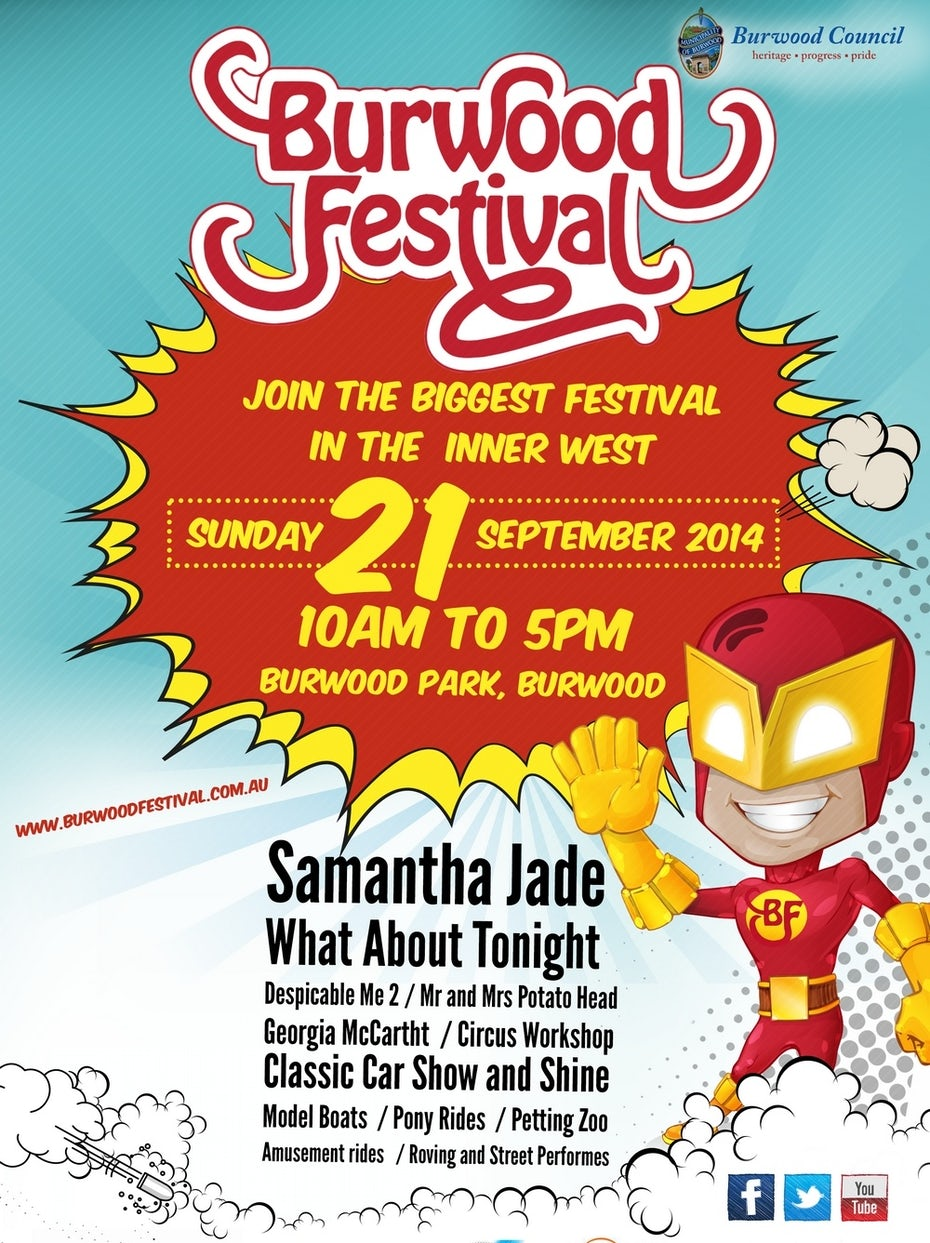 Cartoon flyer for a festival