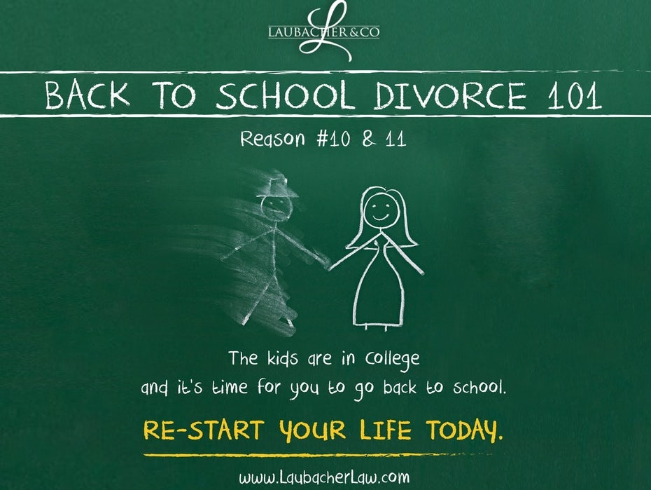 Divorce flyer for law company