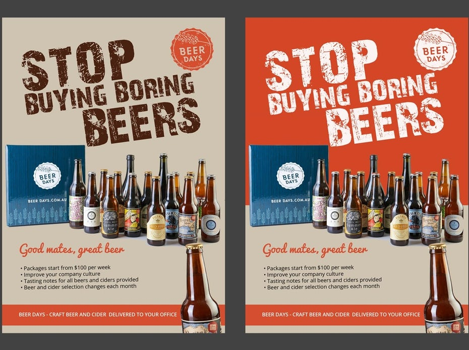 Flyer for craft beer delivery service
