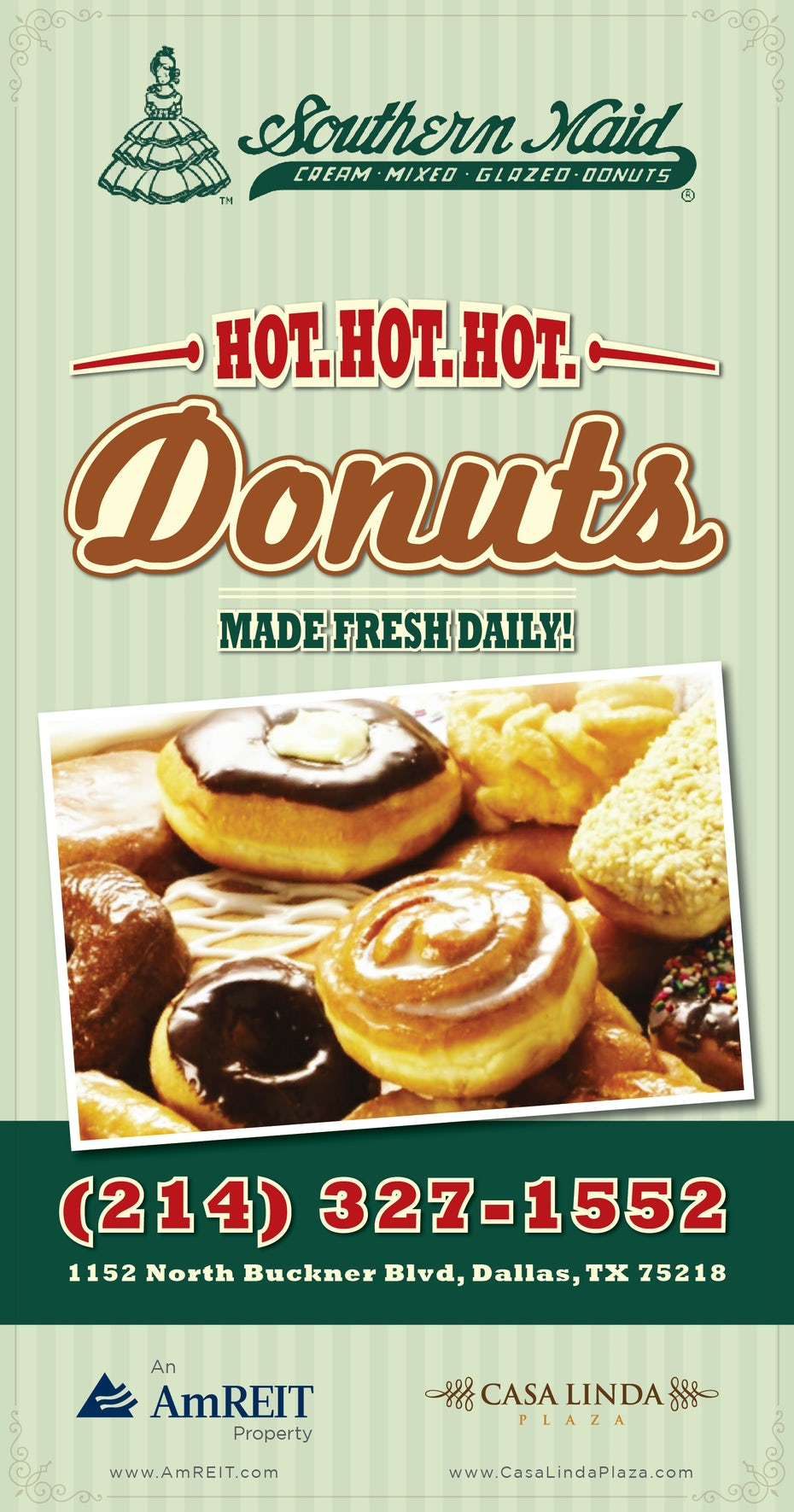 Flyer for donuts shop