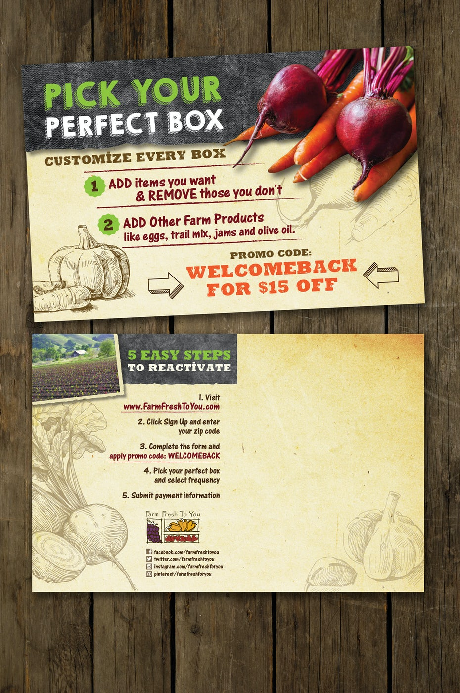 Flyer for farm delivery service