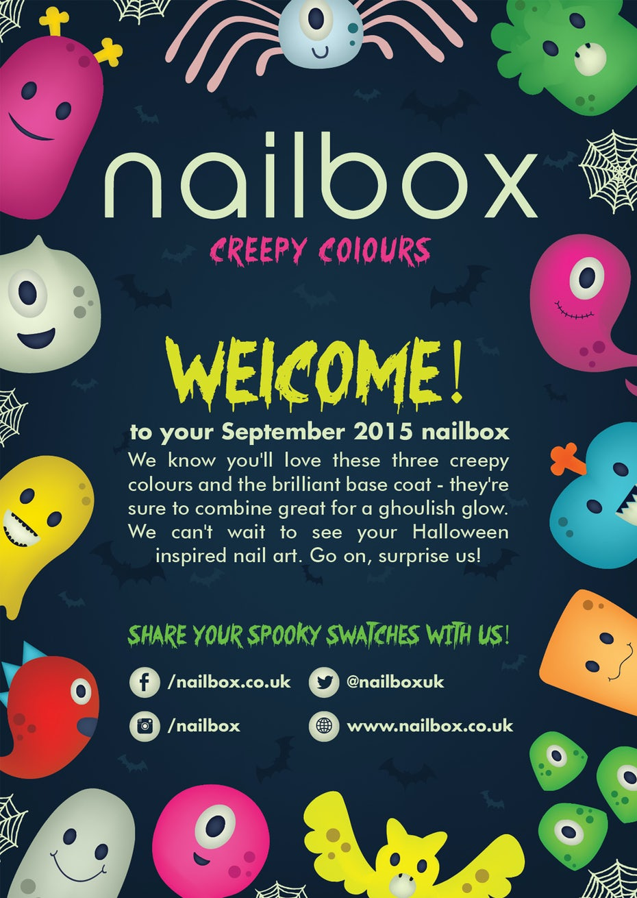 Halloween flyer for nail company