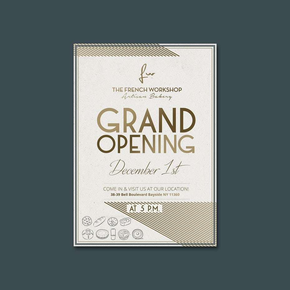 Flyer for a grand opening