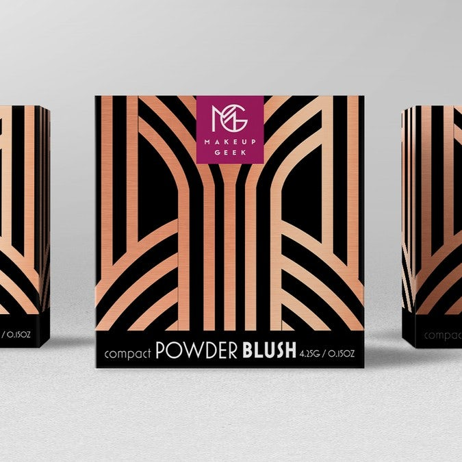Makeup Geek Blush packaging design