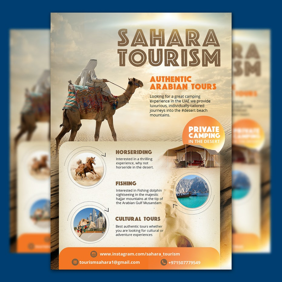 Flyer for a travel company