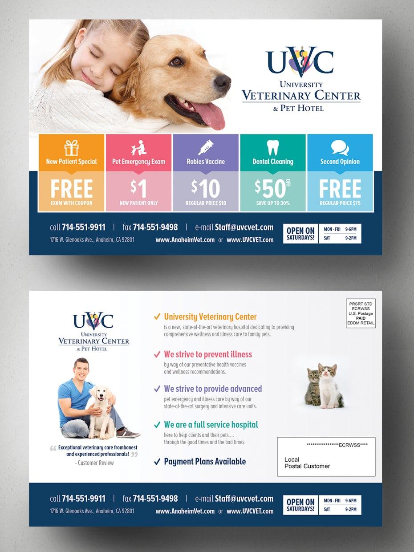 Flyer for a vet hospital