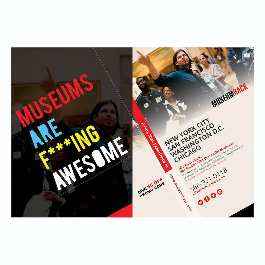 Flyer for a museum tour