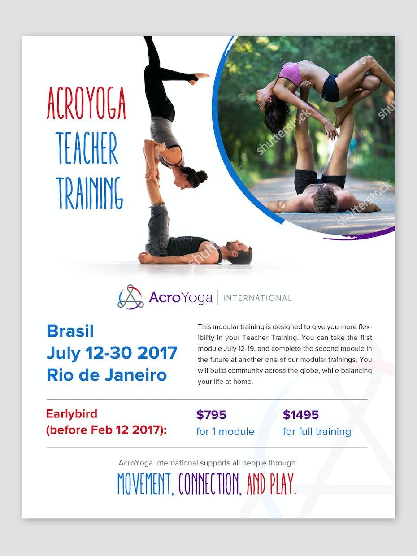 Flyer for acroyoga teacher training