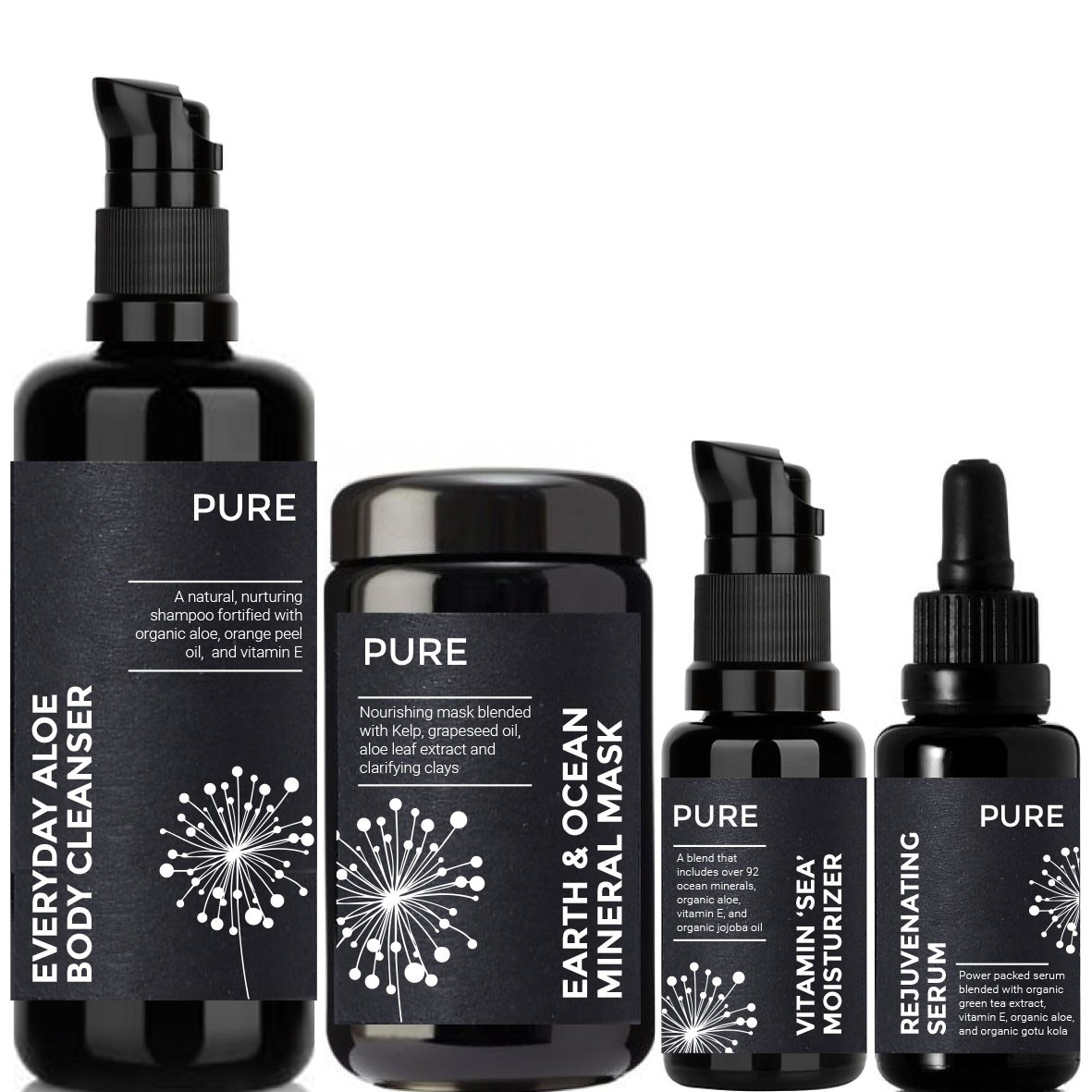 Pure Cosmetics packaging
