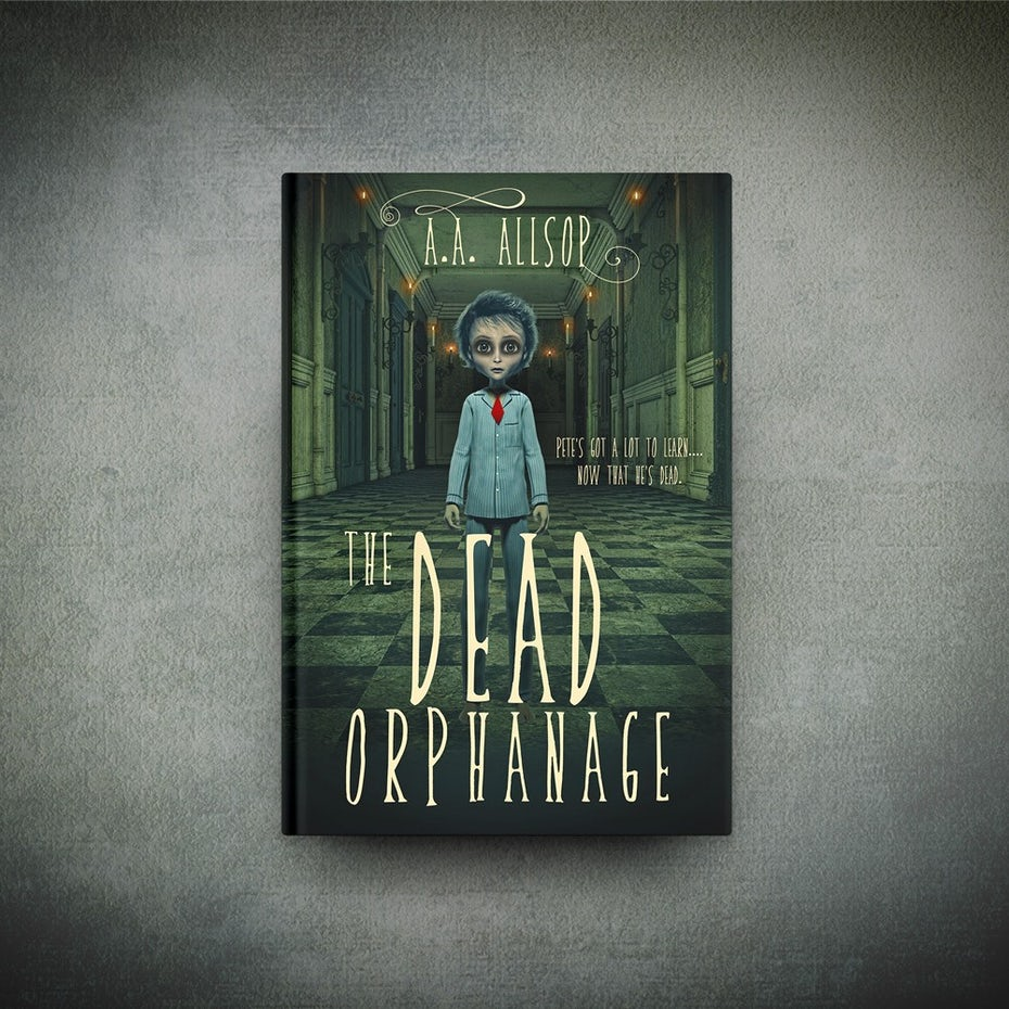 A playfully macabre cover for Dead Orphanage