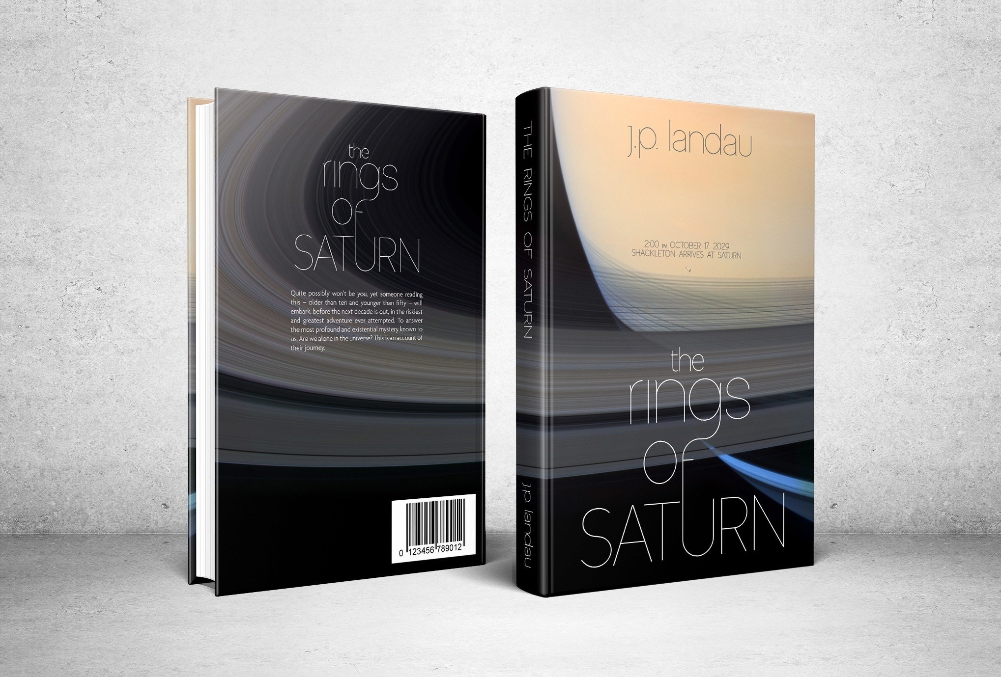 A delightful book cover Rings of Saturn