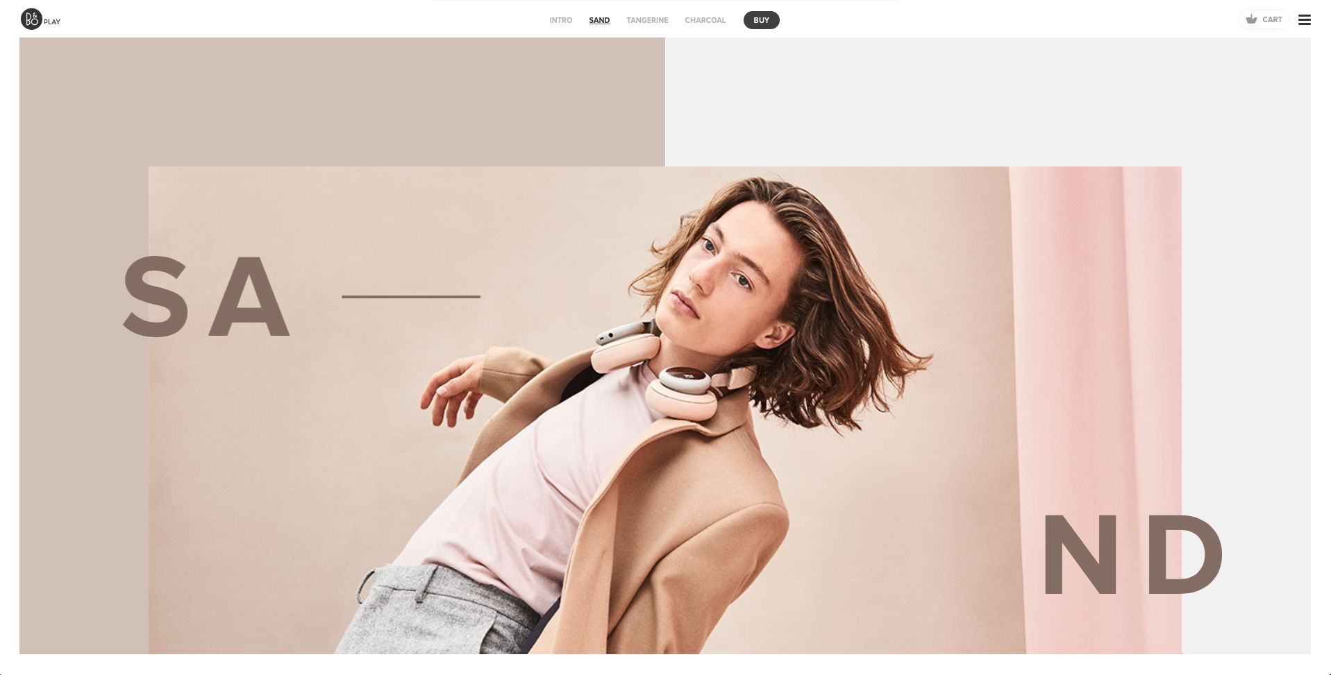The header image of Beoplay's home page
